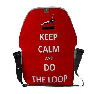 Keep calm and do the loop messenger bag