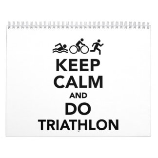Keep calm and do triathlon calendar