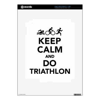 Keep calm and do triathlon iPad 2 decal
