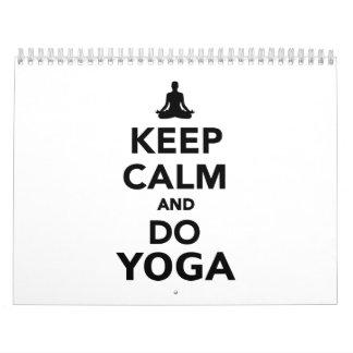 Keep calm and do Yoga Calendar