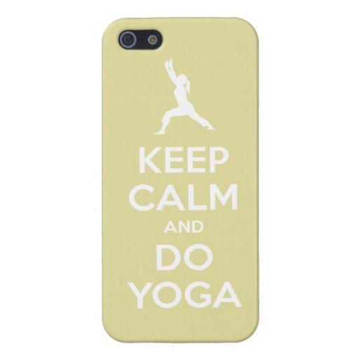 Keep Calm and Do Yoga (chardonnay) iPhone 5 Cover