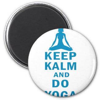 keep calm and do yoga magnet
