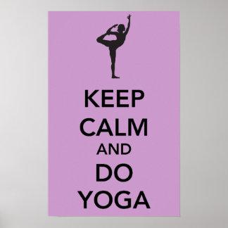Keep Calm and do Yoga Poster