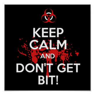 Keep Calm and don t get bit kill zombie zombies wa Poster