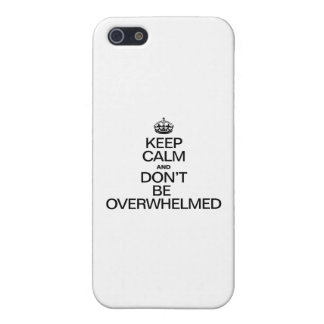 KEEP CALM AND DONT BE OVERWHELMED iPhone 5 CASE