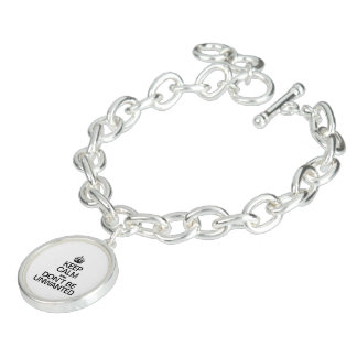 KEEP CALM AND DON'T BE UNWANTED CHARM BRACELET