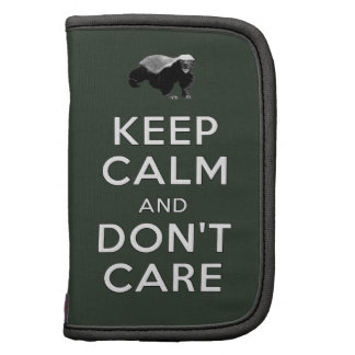Keep Calm and Don't Care Folio Planner