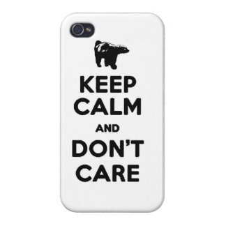 keep calm and dont care honey badger phone case iPhone 4/4S cases