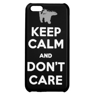keep calm and dont care honey badger phone case iPhone 5C case