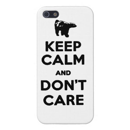 keep calm and dont care honey badger phone case iPhone 5 case