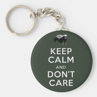 Keep Calm and Don't Care Keychain