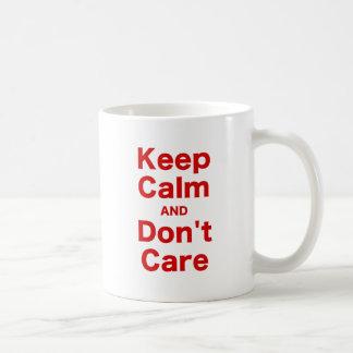 Keep Calm and Dont Care Classic White Coffee Mug