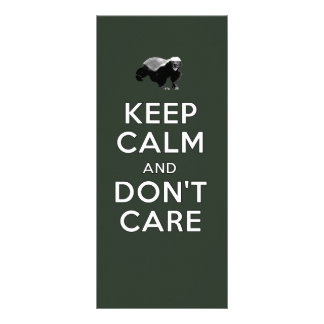 Keep Calm and Don't Care Rack Card