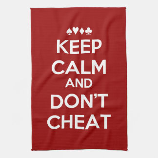Keep Calm And Don't Cheat Hand Towel