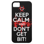 Keep Calm and don't get bit kill zombie zombies wa iPhone 5 Covers