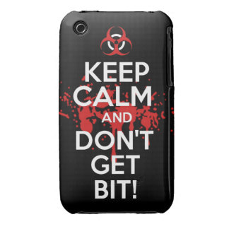 Keep Calm and don't get bit kill zombie zombies wa iPhone 3 Cover