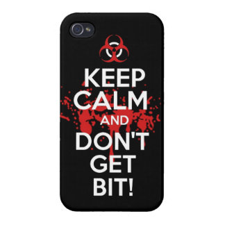 Keep Calm and don't get bit kill zombie zombies wa iPhone 4 Covers