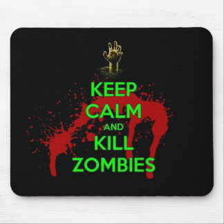 Keep Calm and don't get bit kill zombie zombies wa Mouse Pad