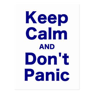 Keep Calm and Don't Panic Postcard
