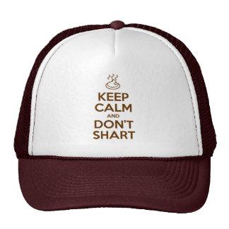 Keep Calm and Don't Shart Trucker Hat