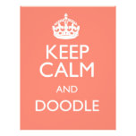 KEEP CALM AND DOODLE FLYER DESIGN
