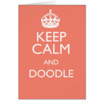 KEEP CALM AND DOODLE STATIONERY NOTE CARD