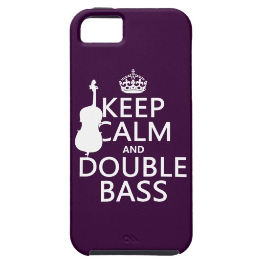 Keep Calm and Double Bass (any background color) iPhone SE/5/5s Case
