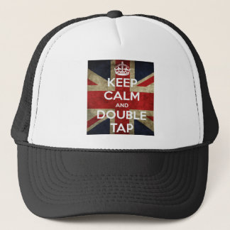 Keep Calm And Double Tap Trucker Hat