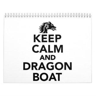 Keep calm and Dragon boat Calendar