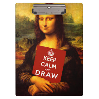 Keep Calm And Draw Clipboard