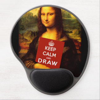 Keep Calm And Draw Gel Mouse Pad