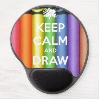 Keep Calm and Draw On Crayons Gel Mouse Pad
