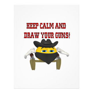 Keep Calm And Draw Your Guns Flyer