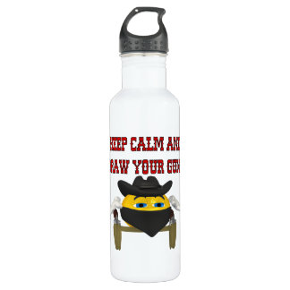 Keep Calm And Draw Your Guns Stainless Steel Water Bottle