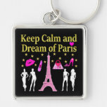 KEEP CALM AND DREAM OF PARIS KEYCHAIN
