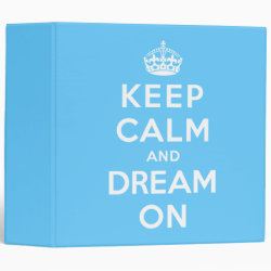 Avery Signature 1' Binder with Keep Calm and Dream On design