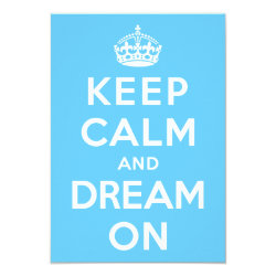 3.5' x 5' Invitation / Flat Card with Keep Calm and Dream On design