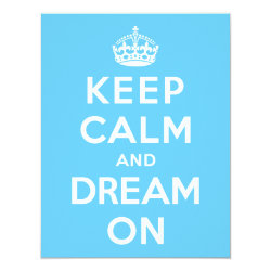 4.25' x 5.5' Invitation / Flat Card with Keep Calm and Dream On design