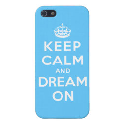 Case Savvy iPhone 5 Matte Finish Case with Keep Calm and Dream On design