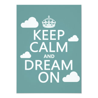 Keep Calm and Dream On (clouds) - all colors Card