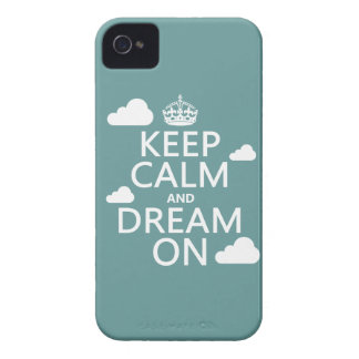 Keep Calm and Dream On (clouds) - all colors iPhone 4 Case