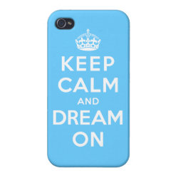 Case Savvy iPhone 4 Matte Finish Case with Keep Calm and Dream On design