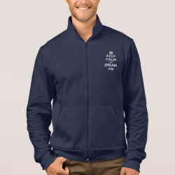 American Apparel California Fleece Zip Jogger with Keep Calm and Dream On design