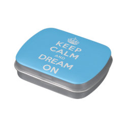 Rectangle Jelly Belly™ Candy Tin with Keep Calm and Dream On design