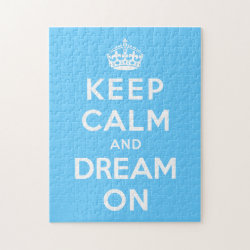 10x14 Photo Puzzle with Keep Calm and Dream On design