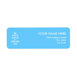 Return Label with Keep Calm and Dream On design