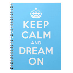 Photo Notebook (6.5' x 8.75', 80 Pages B&W) with Keep Calm and Dream On design