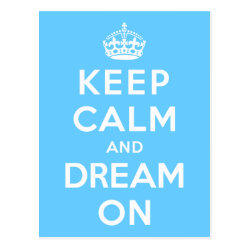 Postcard with Keep Calm and Dream On design