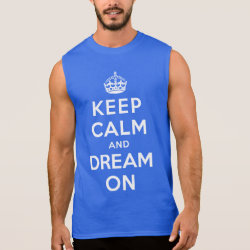 Men's Ultra Cotton Sleeveless T-Shirt with Keep Calm and Dream On design