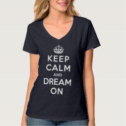 Women's Hanes Nano V-Neck T-Shirt with Keep Calm and Dream On design